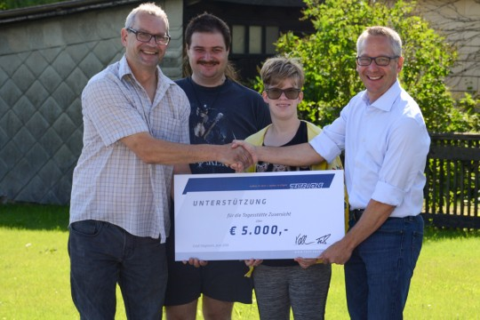 TEST-FUCHS - Generous financial support for a local workshop for disabled young people