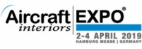 Visit us at the Aircraft Interiors 2019 in Hamburg